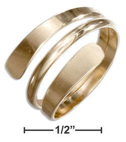 12 Karat Gold Filled High Polish Wrap Around Bypass Ring | Jewelry Store