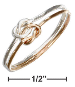 Sterling Silver And 12 Karat Gold Filled Wire Double Love Knot Ring | Jewelry Store