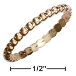 12 Karat Gold Filled Beaded Band Ring | Jewelry Store