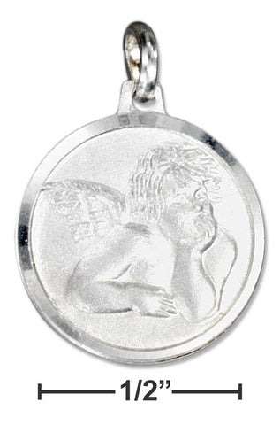 Sterling Silver Italian Rafael Angel Charm With Satin Finish | Jewelry Store