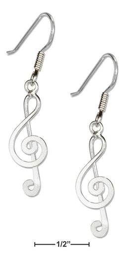 Sterling Silver Music G-Clef Earrings | Jewelry Store