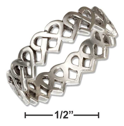 Sterling Silver Open Celtic Heart Knots Band Ring | Jewelry Store