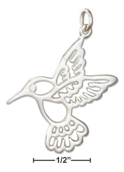 Sterling Silver Silhouette Hummingbird Charm | Jewelry Store