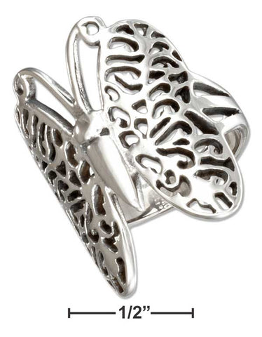 Stainless Steel Filigree Butterfly Ring | Jewelry Store
