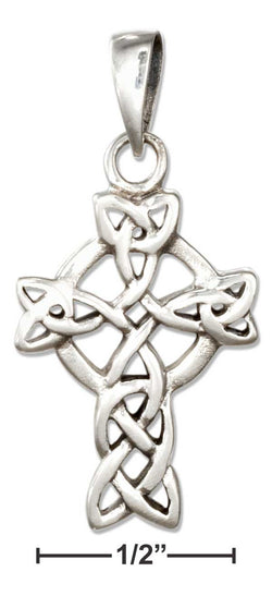 Sterling Silver Celtic Knot Celtic Cross Pendant | Jewelry Store