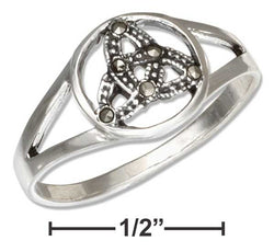 Sterling Silver Marcasite Celtic Trinity Knot Ring | Jewelry Store