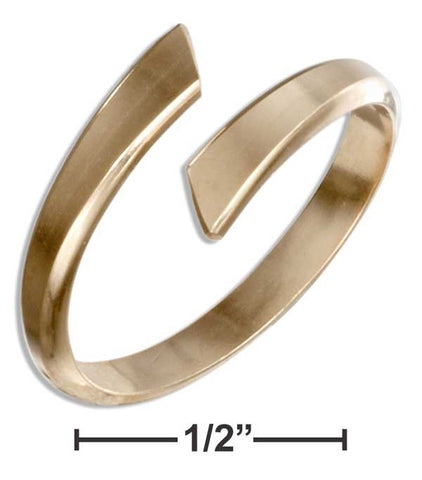 12 Karat Gold Filled Flat End Bypass Ring | Jewelry Store