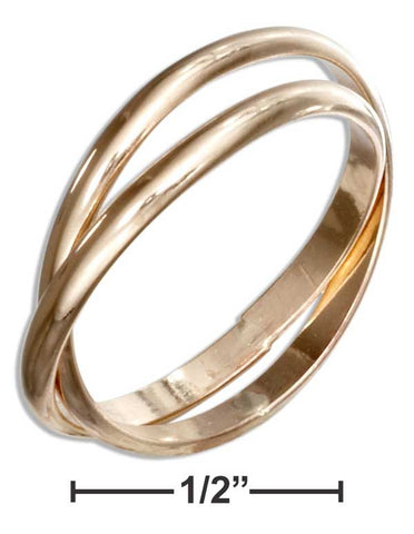 12 Karat Gold Filled Two Band Slide Ring | Jewelry Store