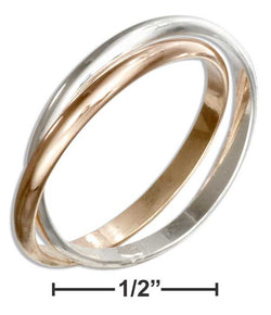 Sterling Silver And 12 Karat Gold Filled Two Band Slide Ring | Jewelry Store