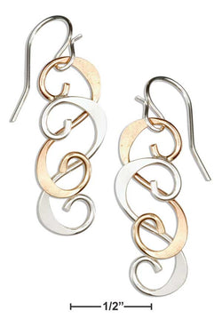 Sterling Silver And 12 Karat Gold Filled Double Scroll Earrings | Jewelry Store