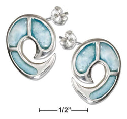 Sterling Silver Larimar Dolphin Post Earrings | Jewelry Store