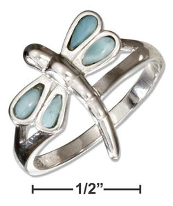 Sterling Silver Larimar Dragonfly Ring | Jewelry Store