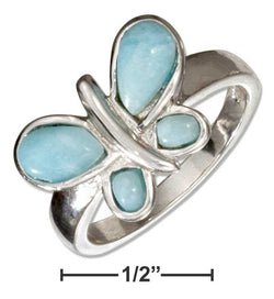 Sterling Silver Larimar Butterfly Ring | Jewelry Store
