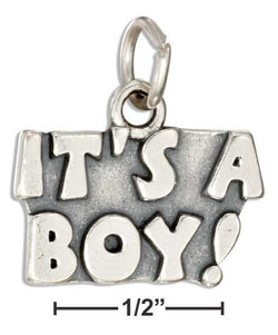 "Sterling Silver ""It'S A Boy!"" Message Charm 