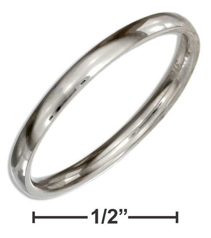 Stainless Steel 2mm Wedding Band Ring | Jewelry Store