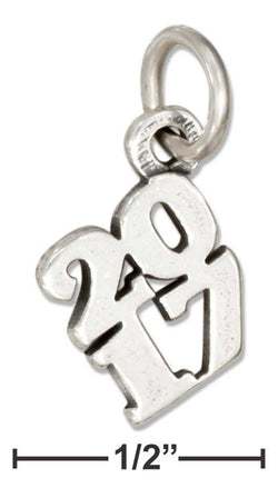 "Sterling Silver Year ""2017"" Charm 