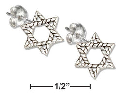 Sterling Silver Mini Star Of David Earrings | Jewelry Store