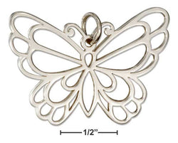 Sterling Silver Outline Butterfly Charm | Jewelry Store
