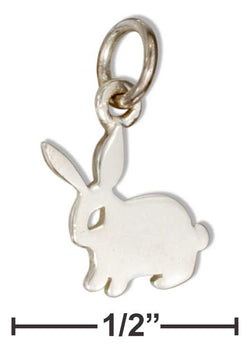 Sterling Silver Mini Bunny Rabbit Silhouette Charm | Jewelry Store