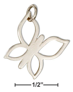 Sterling Silver Simple Outline Butterfly Charm | Jewelry Store