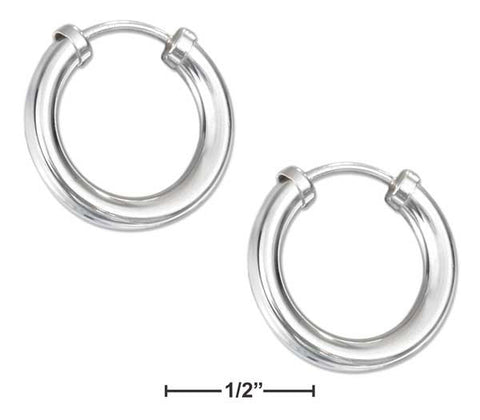 Sterling Silver 17mm Endless Wire Hoop Earrings | Jewelry Store