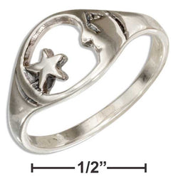 Sterling Silver Moon And Star Ring | Jewelry Store