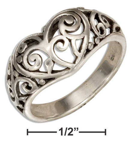 Sterling Silver Filigree Heart Ring | Jewelry Store
