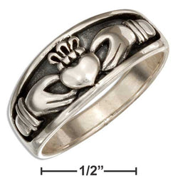 Sterling Silver Irish Claddagh Band Ring | Jewelry Store