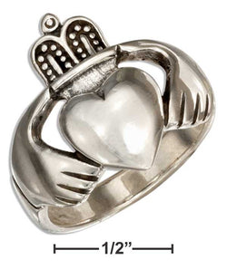 Sterling Silver Large Irish Claddagh Ring | Jewelry Store