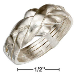 Sterling Silver Four Band Puzzle Ring | Jewelry Store
