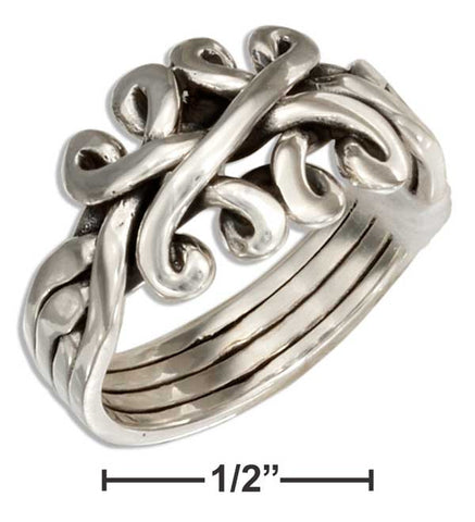 Sterling Silver Celtic Four Band Puzzle Ring | Jewelry Store