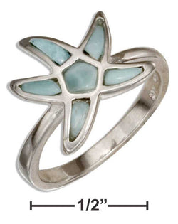 Sterling Silver Larimar Starfish Ring | Jewelry Store