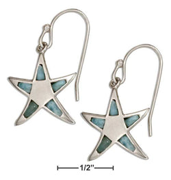 Sterling Silver Larimar Starfish Earrings | Jewelry Store