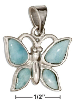 Sterling Silver Larimar Butterfly Pendant | Jewelry Store
