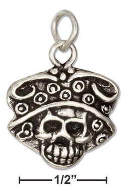 Sterling Silver Catrina Skull Charm | Jewelry Store