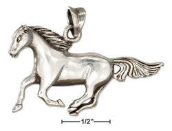 Sterling Silver Running Horse Pendant | Jewelry Store
