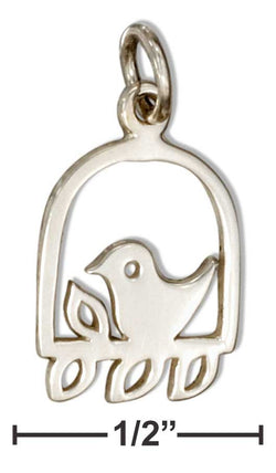 Sterling Silver Branch With Bird Charm | Jewelry Store
