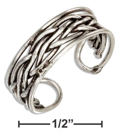 Sterling Silver Woven Toe Ring | Worlds Largest Jewelry Store