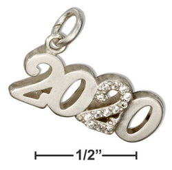 "Sterling Silver And Crystal Year ""2020"" Charm 