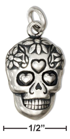 Sterling Silver Sugar Skull Charm | Jewelry Store
