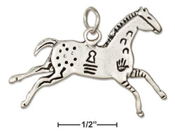 Sterling Silver Southwest Painted Pony Horse Charm | Jewelry Store