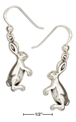 Sterling Silver Standing Bunny Rabbit Earrings | Jewelry Store