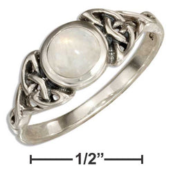 Sterling Silver Moonstone Ring With Celtic Knots | Jewelry Store