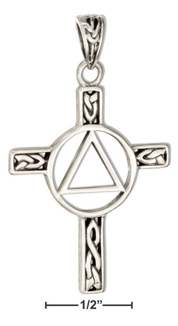 Sterling Silver Celtic Cross Aa Recovery Symbol Pendant | Jewelry Store