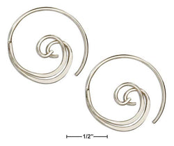 Sterling Silver Double Curl Spiral Ear Threader Wire Hoop Earrings | Jewelry Store