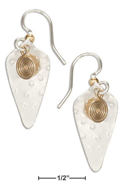 Sterling Silver And 12 Karat Gold Filled Cone Shaped Dangle Earrings With Spiral | Jewelry Store