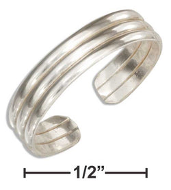 Sterling Silver Triple Band Toe Ring | Jewelry Store