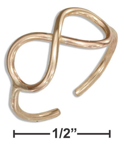 12 Karat Gold Filled Infinity Knot Toe Ring | Jewelry Store