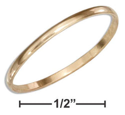 12 Karat Gold Filled 1mm Wedding Band Ring | Jewelry Store
