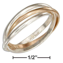 Sterling Silver And 12 Karat Gold Filled Three Band Slide Ring | Jewelry Store
